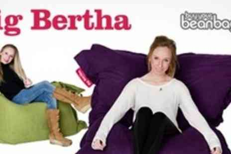 Big Bertha - Two Big Bertha XL Beanbag In Choice Of 10 Colours - Save 76%