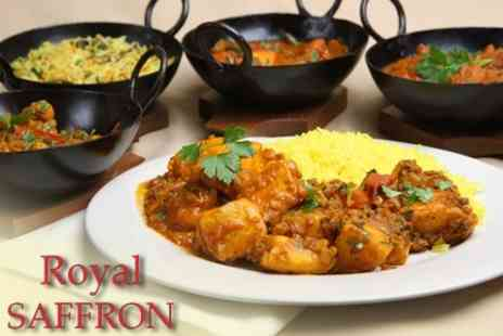 The Royal Saffron - Two Course Meal For Two With a Glass of Wine Each for £16 - Save 60%
