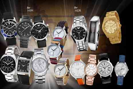 Wowcher Direct - Mystery watch for him or her from Hugo Boss, Swiss Military, Michael Kors, Calvin Klein, Police, Guess, One Tribe, Marc Jacobs, Emporio Armani and more - Save 0%