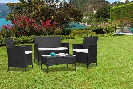 Furniture Instore - Four piece rattan set - Save 77%