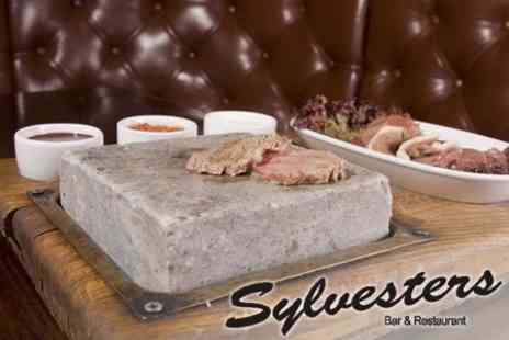Sylvester's Bar and Restaurant - £18 Sizzling Hot Stone Steak Meal With Starter and Side For Two - Save 60%