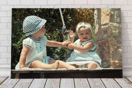 Print My Photo - A3 Personalised Canvas - Save 78%