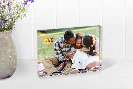 Snapfish -  A6 acrylic photo block - Save 63%