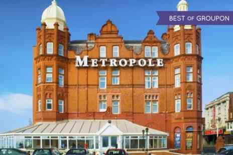 Grand Metropole - One Night Stay For Two With Breakfast and Pimms or 1 or 2 Nights Plus Dinner - Save 0%