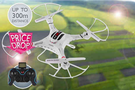 Globi Toys - Pilot 360 long distance remote controlled drone quadrocopter with photo and video surveillance - Save 72%
