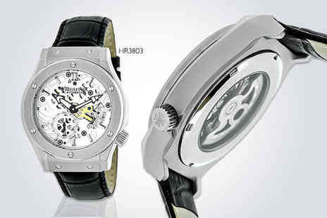 Ideal Deal - Mens automatic Heritor Gemini watch choose from three designs - Save 87%