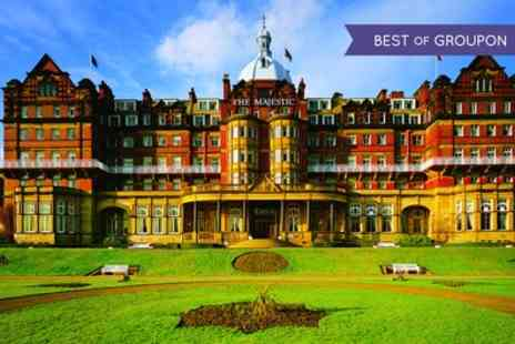 The Majestic Hotel - Harrogate Stay For Two With Breakfast, Dinner, Wine And Leisure Access With Option For Tea - Save 0%