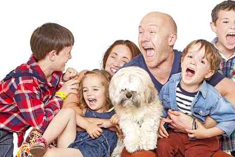 "Venture Liverpool - Family Photoshoot for Up to 10 Including Pets With Framed 10"" x 8"" Print - Save 82%"