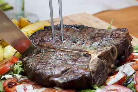 Frosoullas - Sirloin Steak Meal with a Glass of Wine for Two or Four - Save 51%
