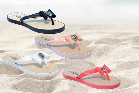 Maetrad - Pair of summer bow flip flops - Save 74%
