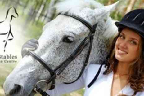 Quob Stables - Horse Riding For Two With Breakfast or Lunch Plus Bubbly - Save 60%