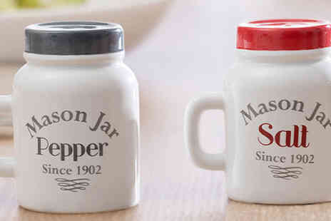 englsey - Salt and Pepper Mason Jar Shakers - Save 60%