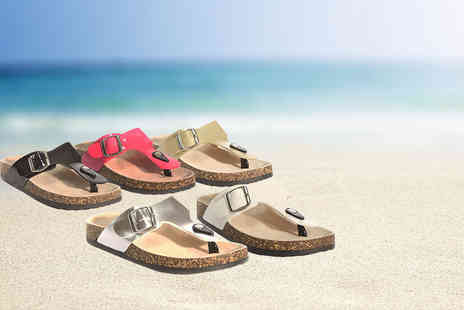 Maetrad - Pair of summer footbed sandals - Save 73%