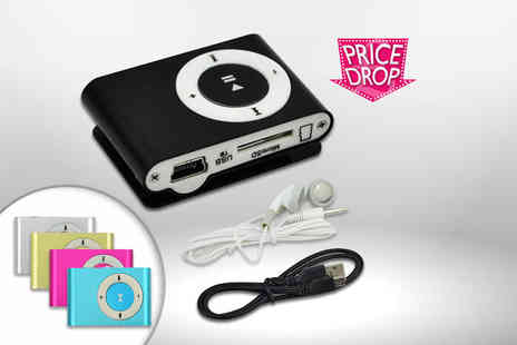 EF Mall - Mini MP3 player choose from five fab colours - Save 83%