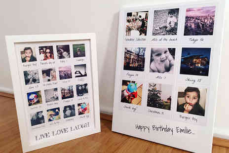 Picture Perfect Canvas Prints - A4 Polaroid collage print - Save 76%