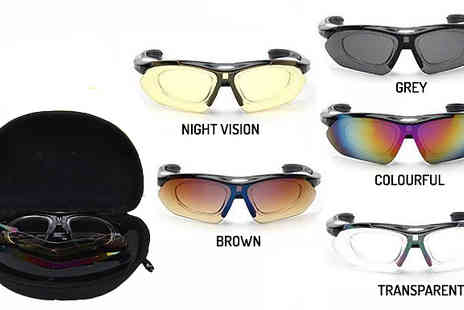 Cappie International AB - One or Two Polarised Sports Sunglasses in 5 Colours - Save 0%