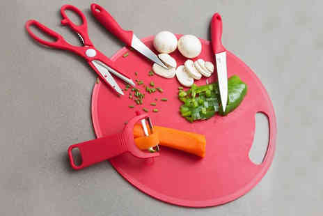 Englsey Uk - Red Chopping Board with Accessories Set - Save 60%