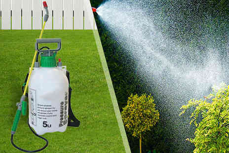 Tooltime UK - 5L Garden Pressure Knapsack Sprayer - Save 50%