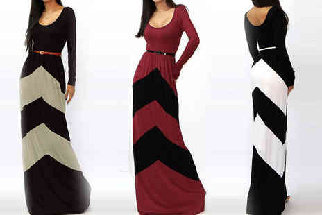 Eden Wear - Long Sleeved Maxi Dress in 3 Colours - Save 66%