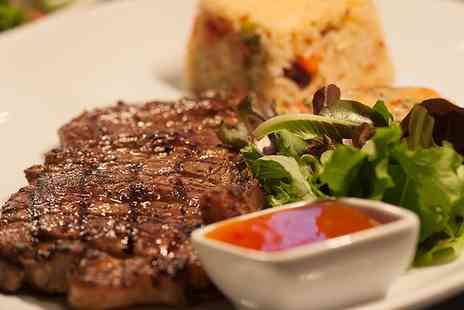 1573 Bar & Grill - Two Course Steak and Seafood Meal with a Hot Drink for Two, Four or Six - Save 54%