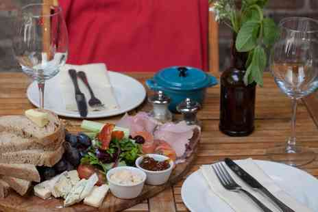 Bistro Guy - House Platter Board to Share and Glass of Wine for Two - Save 36%