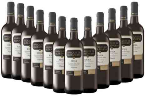 Monte Regio - 12 Bottles of Spanish Tempranillo Rioja  or Crianza Rioja Wine With Free Delivery - Save 57%