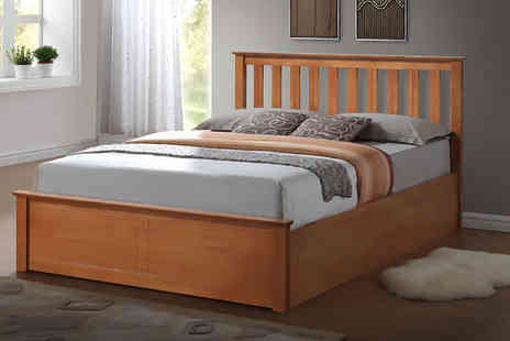 FTA Furnishing - Small double or double wooden ottoman bed - Save 57%