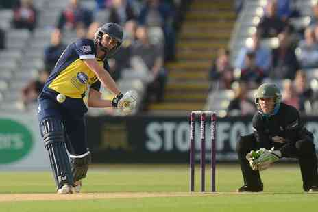 England Cricket ODI - Birmingham Bears T20 Cricket Entry for One Adult with Up to Two Children or Skyline Terrace Ticket  - Save 0%