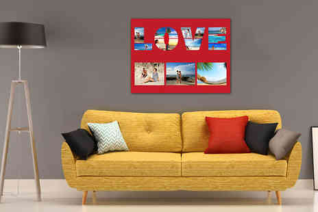 Discount Photo Prints - Collage or Single Image Canvas Print in 3 Sizes - Save 91%
