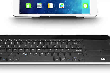 1byOne - Wireless Bluetooth Keyboard with Touchpad - Save 66%