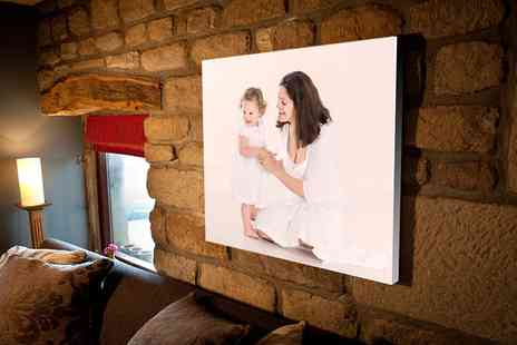 You Frame - Personalised Photo Upload Canvas in Choice of Size - Save 82%