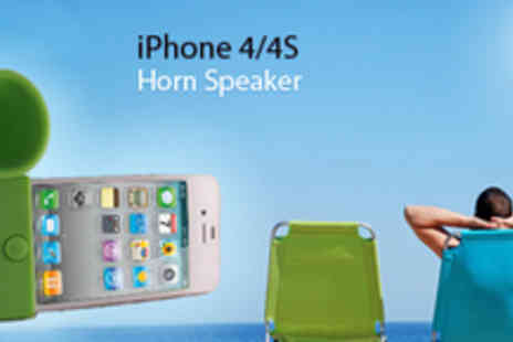 Gifts 4 U- Horn Speaker iPhone 4/4S only £6 (usually £29.99 - save 79%) - Save 80%