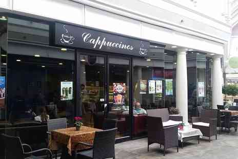 Cappuccinos Grantham - Afternoon Tea with Optional Milkshakes for Two or Four - Save 0%