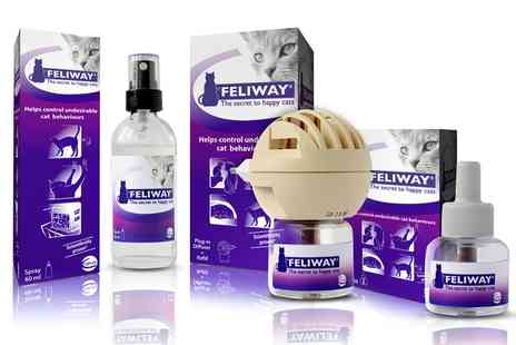 Petwell - Feliway for Cats Refill, Diffuser Set and Spray With Free Delivery - Save 46%