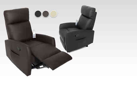 Morale Home Furnishings - Dijon faux leather massage and heat recliner armchair - Save 55%