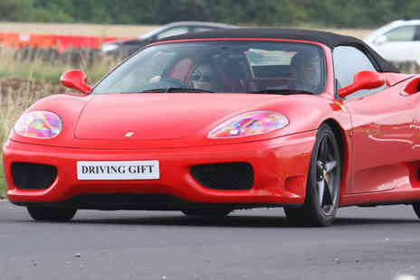 Driving Gift - Ferrari 360 or Nissan GTR thrill driving experience - Save 51%