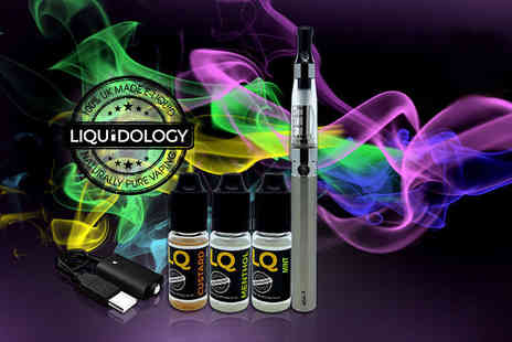 Liquidology - E cigarette starter kit with three e liquids - Save 0%