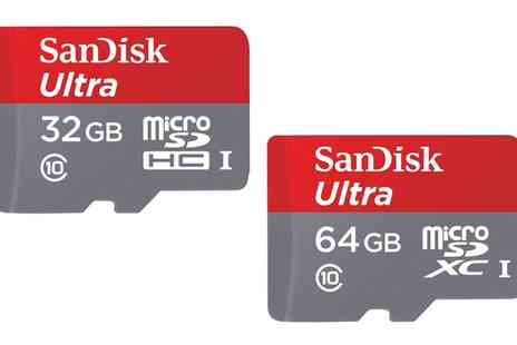Crazy Kangaroo - SanDisk Ultra 32GB/64GB microSD Memory Card Plus SD Adapter up to 80 Mbps With Free Delivery - Save 63%