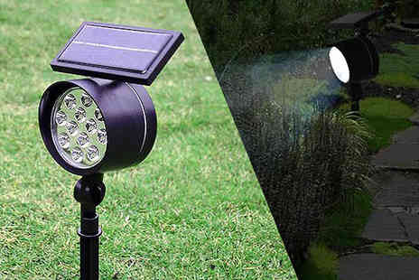 Gagala - Two Motion Sensor Solar Security Spotlights - Save 0%