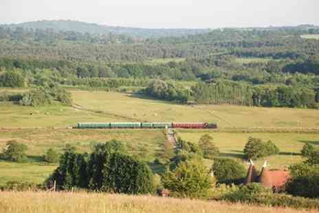 Spa Valley Railway - Vintage Steam Train Trip and Traditional Sunday Lunch with Wine for Two - Save 0%