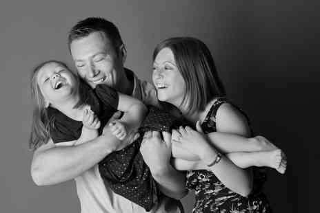The Click Group - Family photoshoot, three prints and £100 worth of vouchers - Save 97%