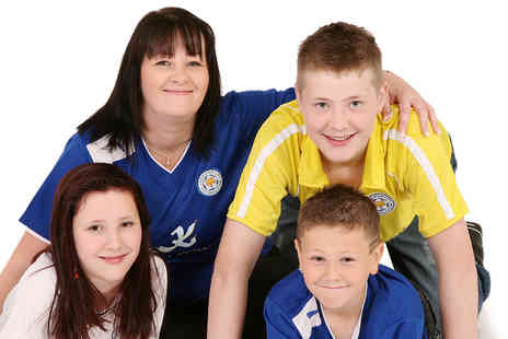 Studio 56 Photography - Leicester City FC celebration family photoshoot for up to 20 including 10 prints - Save 88%