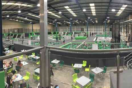 Ascent Trampoline Park - One hour Jump Session for Up to Four With Jump Socks Each and Drink - Save 32%