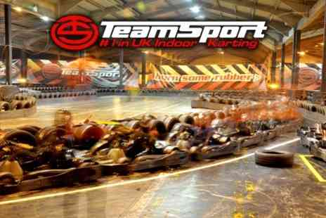 Teamsport Indoor Karting - Two 15 Minute Karting Sessions for £18.75 - Save 53%