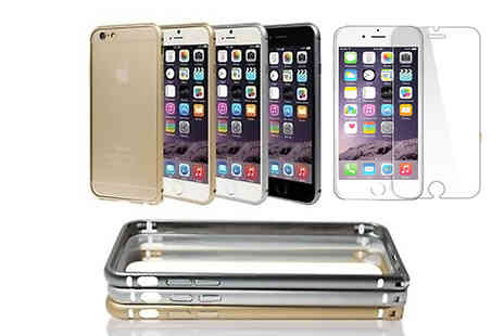 Tech-Tronics - Aluminium iPhone Case with Optional Tempered Glass Screen - Save 73%
