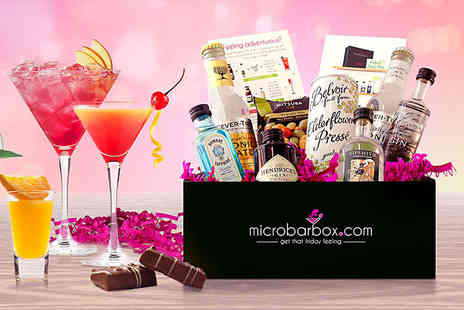 MicroBarBox - First months MicroBarBox Cocktail or Gin Club box, packed with delicious cocktails or gin, tasty treats and a £5 online shop voucher - Save 52%