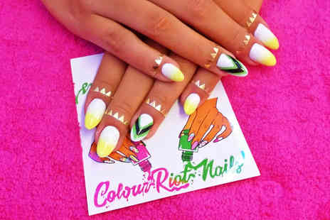 Colour Riot Nails - Shellac manicure or include nail art - Save 53%