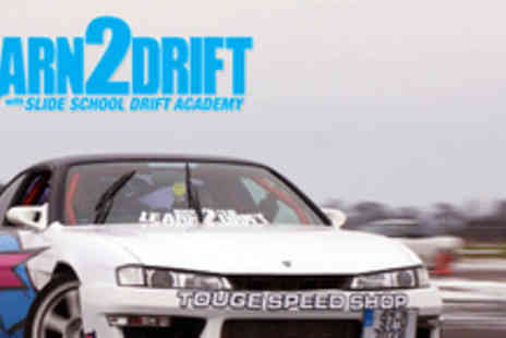 Slide School Drift Academy -  Four hour introduction to car drifting - Save 65%