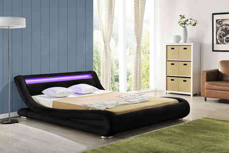IT Ideas - Contemporary LED Rio double bed - Save 61%
