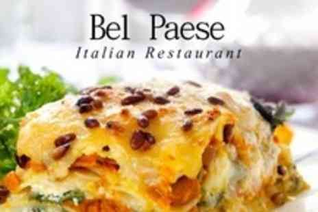Bel Paese - Two Course Italian Meal For Two With Sparkling Wine - Save 60%